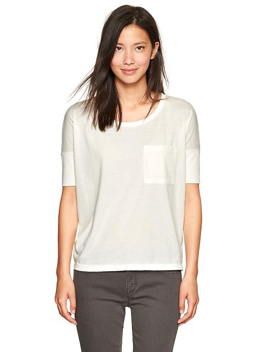 Elbow-sleeve burnout tee // Gap