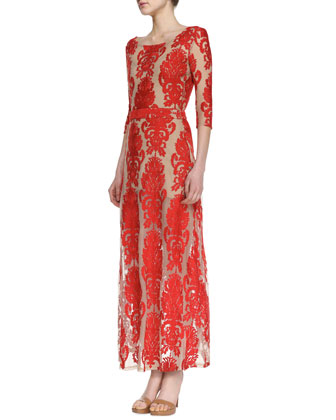 San Marcos Open-Back Lace Maxi Dress // Cusp